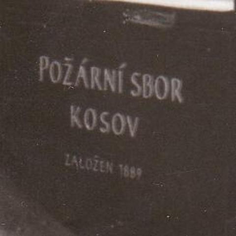 Založení požárního sboru v Kosově 1889